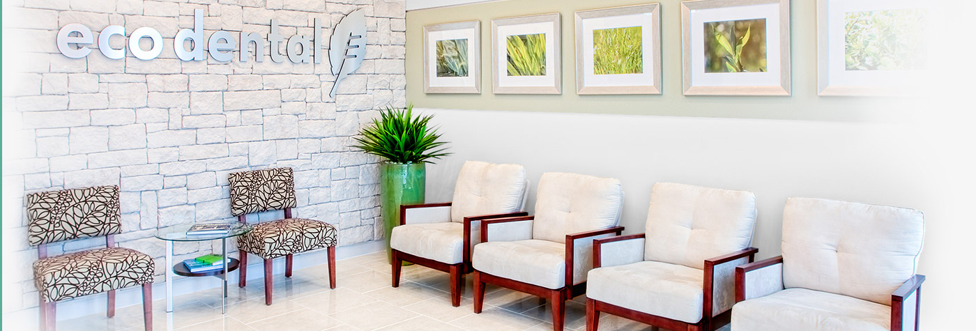 Warm welcoming Eco Dental waiting area