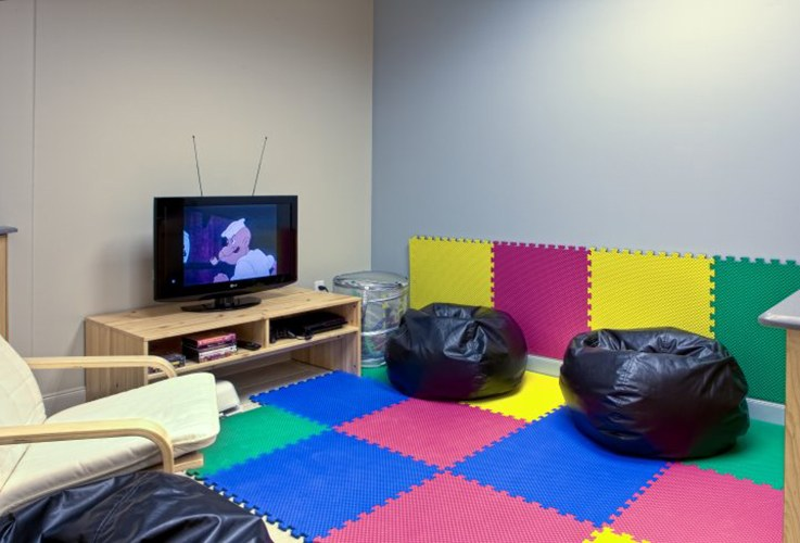Kid friendly waiting area at Eco Dental Sugar Land