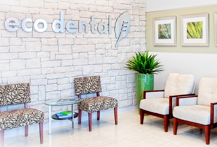 Sugar Land dental reception area