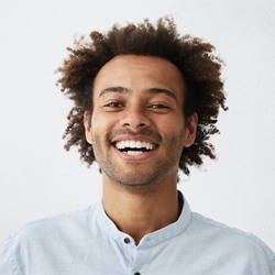 Man with white smile